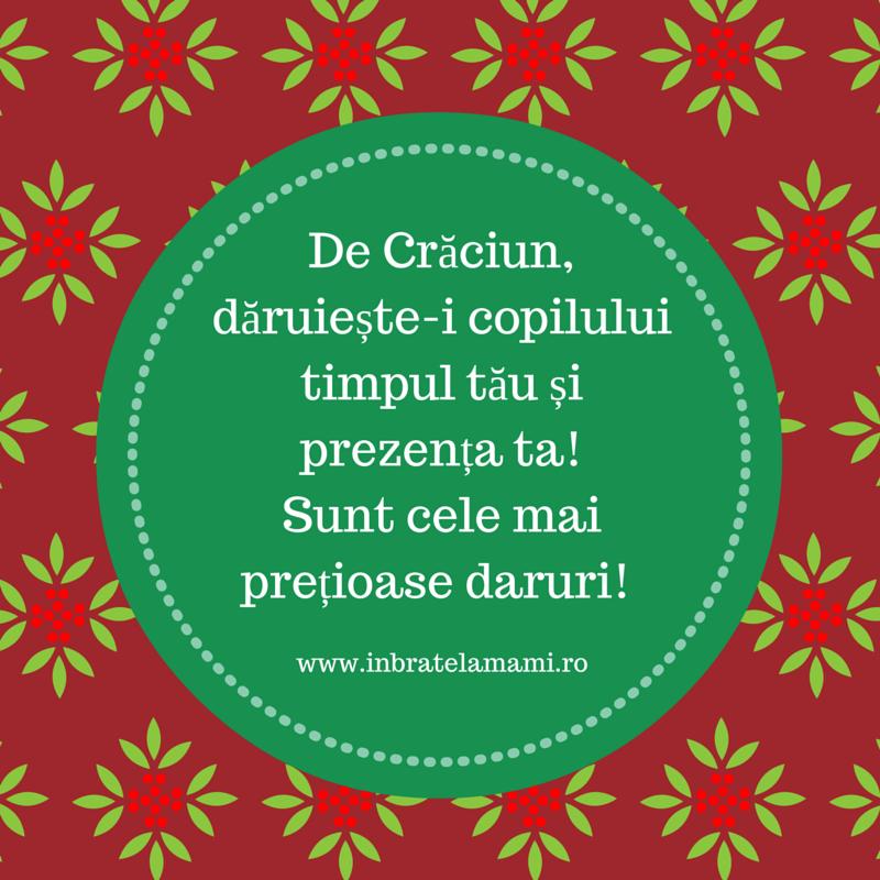 , De Crăciun, oferă cel mai prețios dar: timpul tău