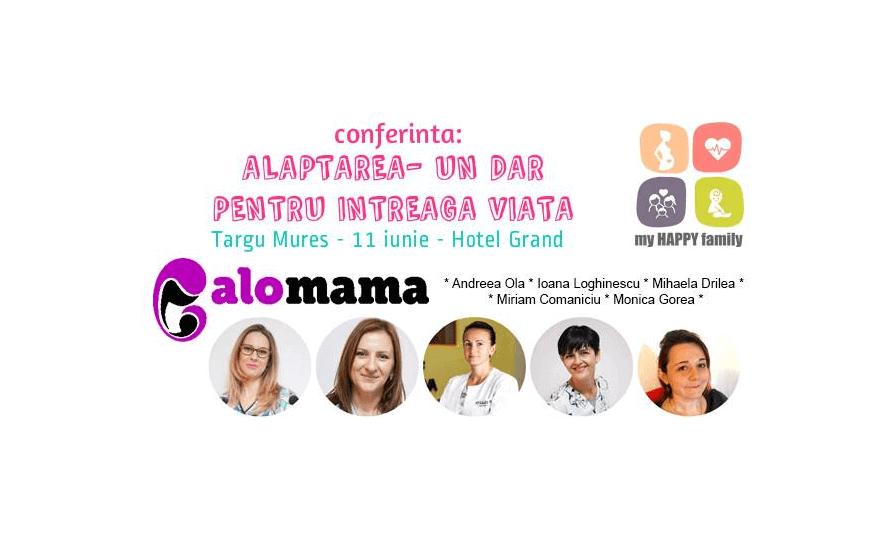 Prima conferință despre alăptare la Târgu Mureș cu echipa Alo, Mama!