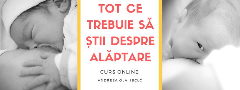 , Curs online de alăptare
