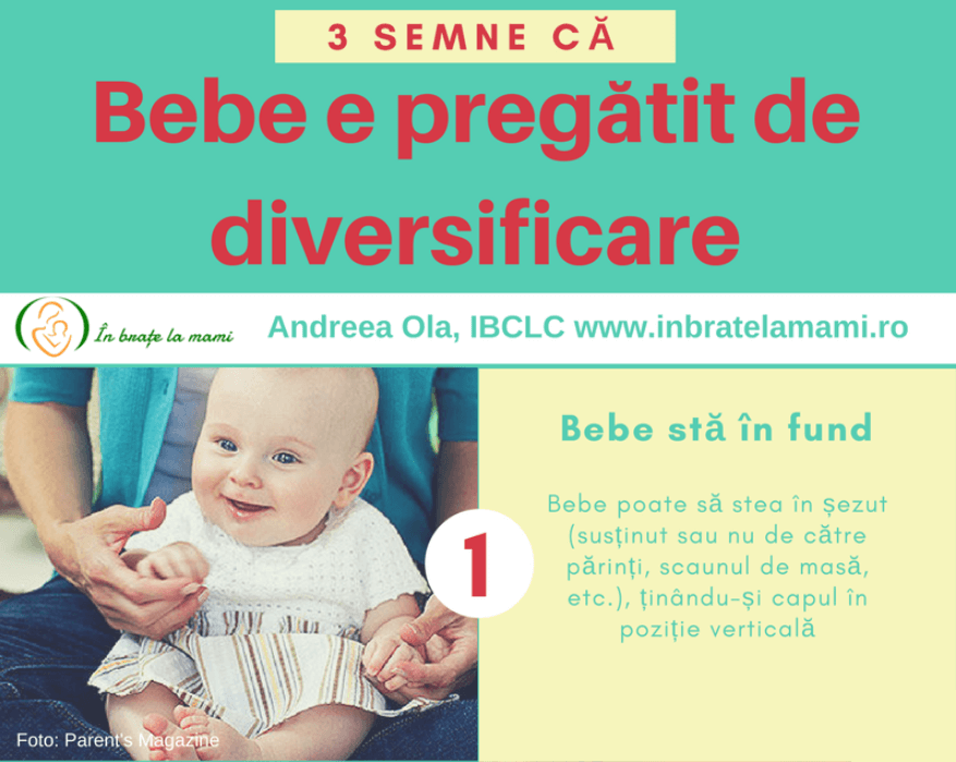 3 semne că bebelușul e pregătit de diversificare